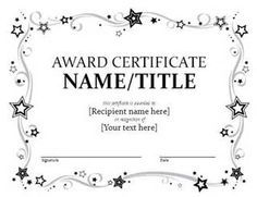 free printable award certificate template bing images
