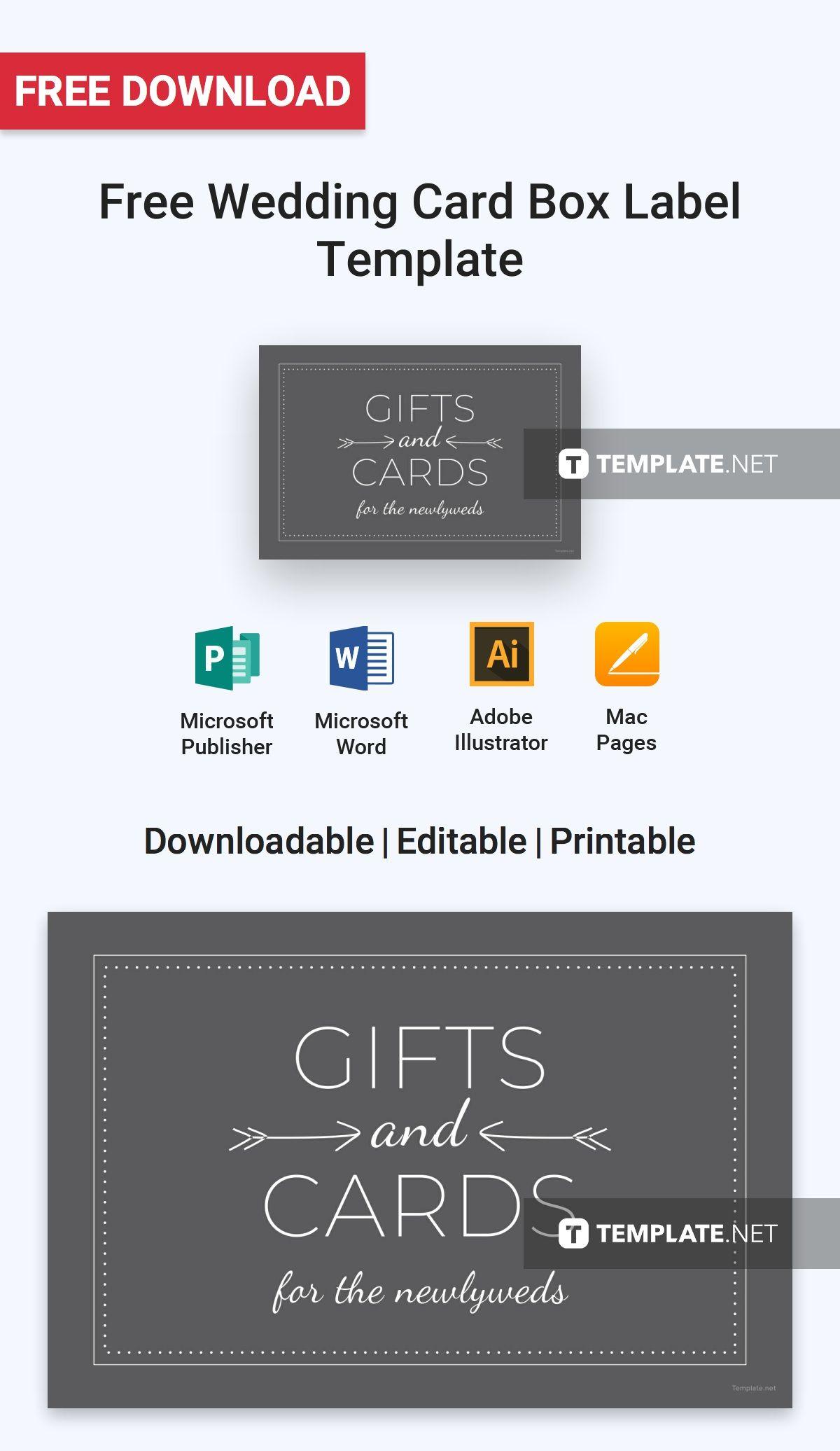 free wedding card box label label templates designs 2019