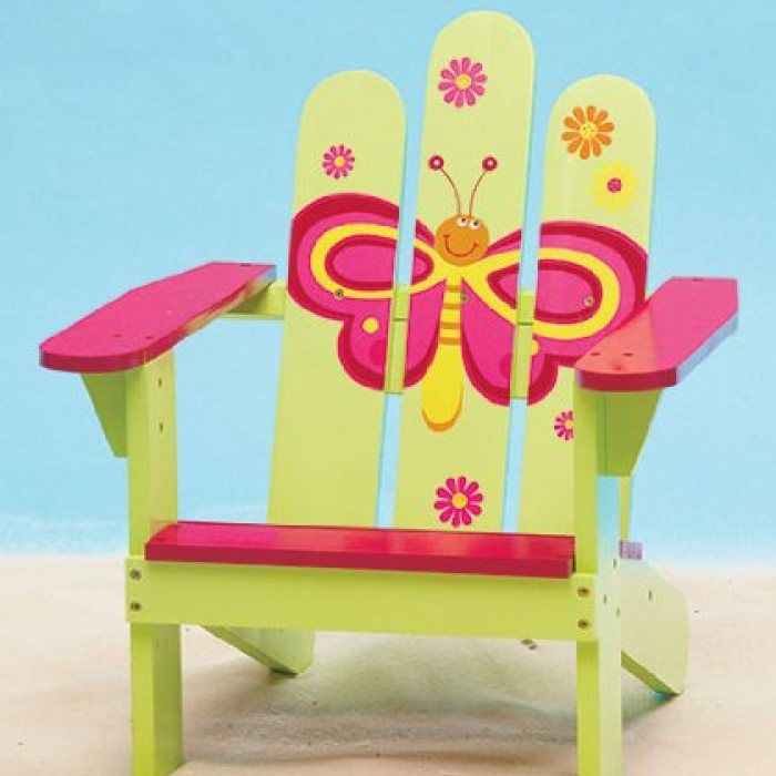 Butterfly Kids Adirondack Chair 23 95 Painted Kids Chairs Kids