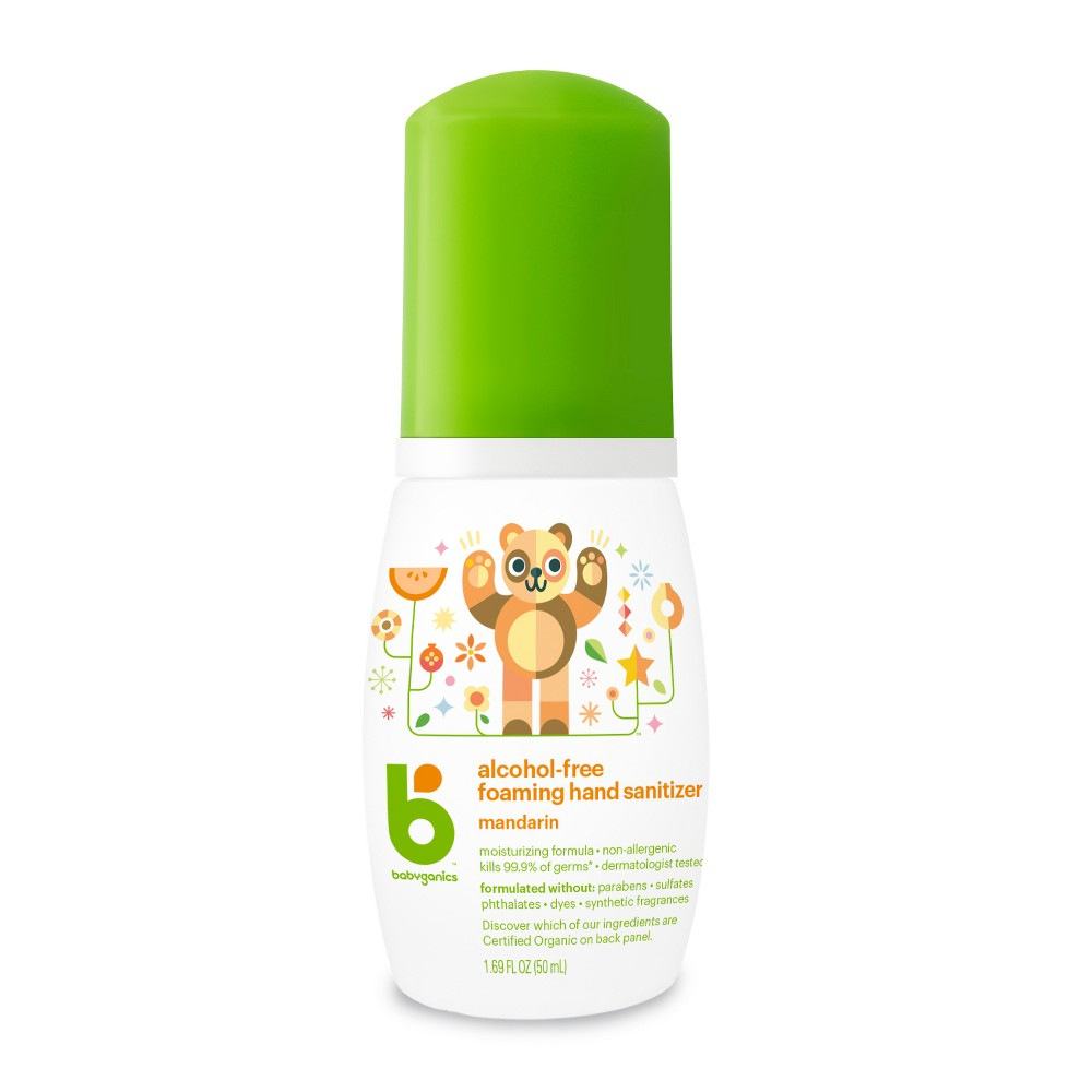 Babyganics Alcohol Free On The Go Foaming Hand Sanitizer Mandarin