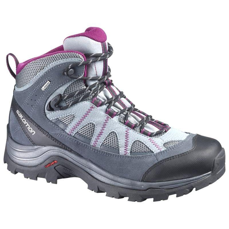 Buty Trekkingowe Salomon Authentic Ltr Szare Czarne Walking Boots Hiking Shoes Women Gore Tex Hiking Boots