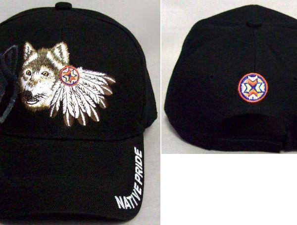 42f0e3362ab02d Wolf Feathers Baseball Cap | Native American Baseball | Baseball ...