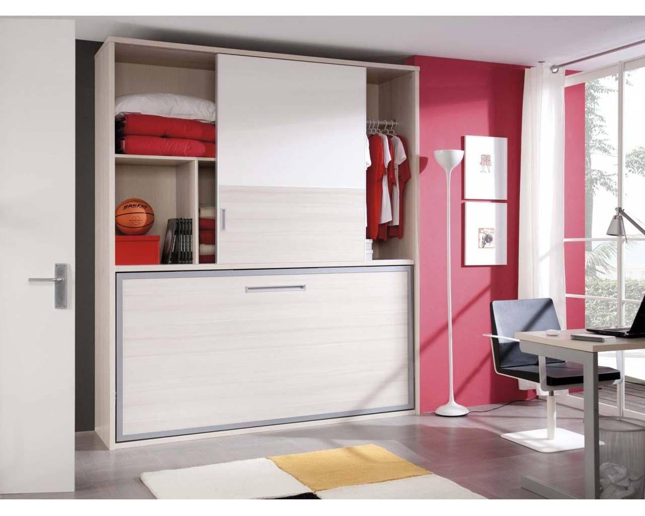 Closet con cama plegable decorando la vida camas for Pequeno armario con puertas correderas
