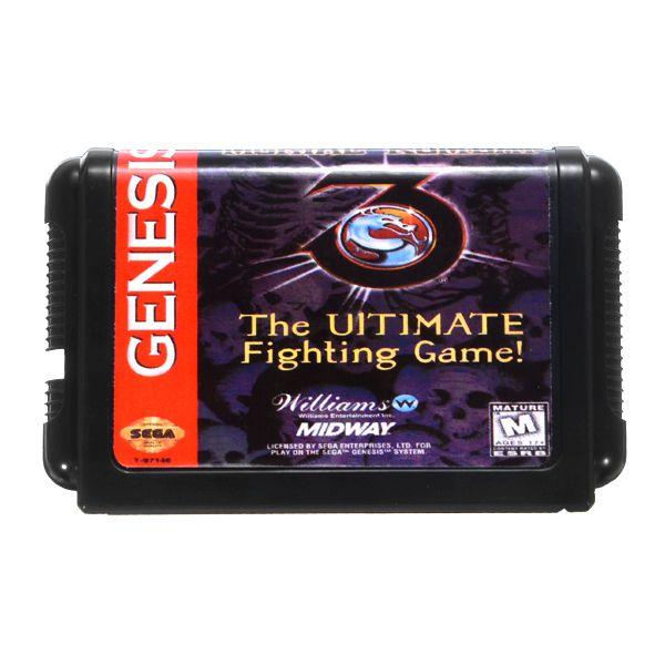 Mortal Kombat 3 Del Juego De Lucha De 16 Bits Tarjeta De Cartucho De