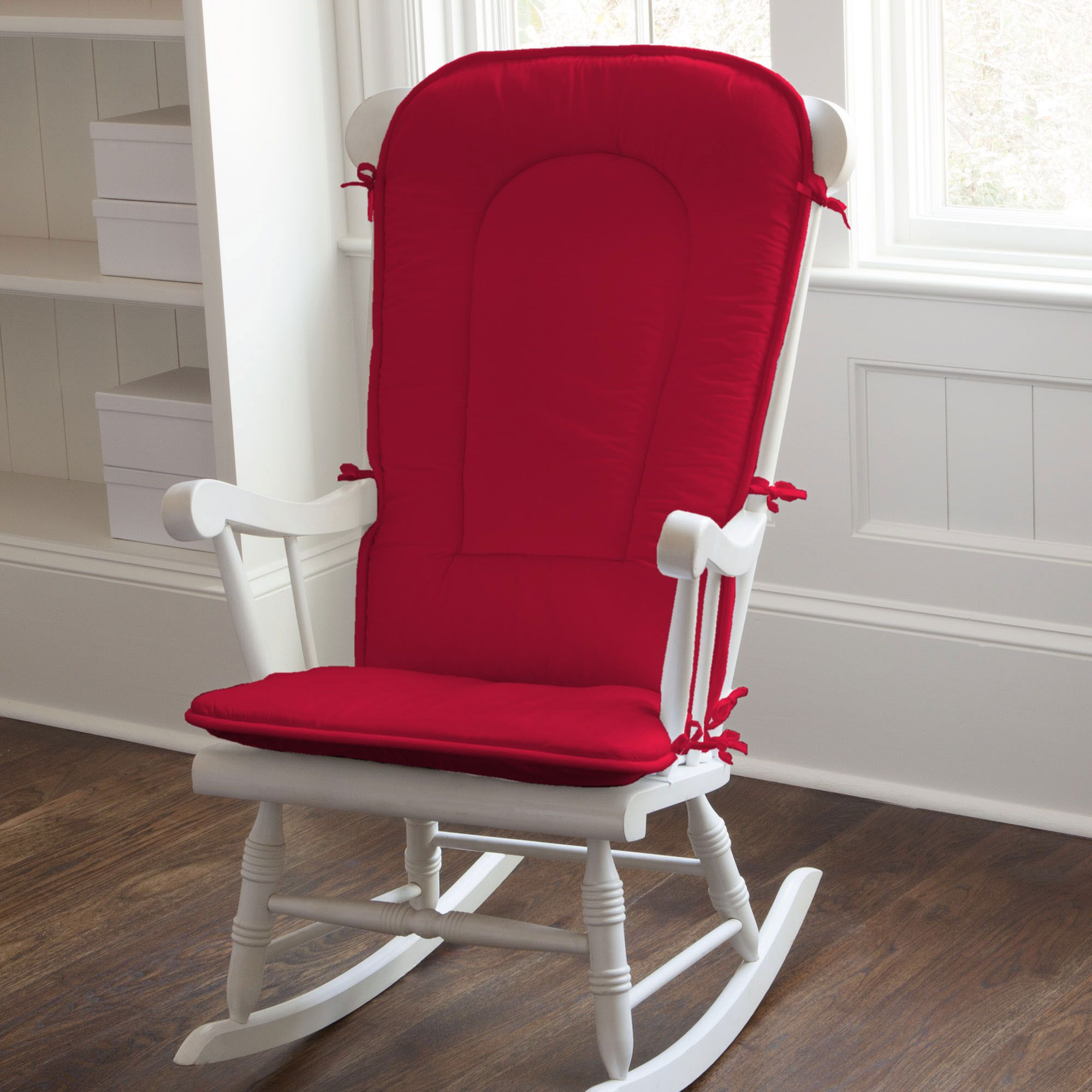 Delicieux Solid Red Rocking Chair Pad #carouseldesigns