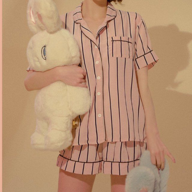 4ae2c90d26 🍑chuu pajama set of stripe top+ striped bottoms + striped hair band. super  cute and popular in korea! you get all 3 items!!! price is firmmm mixxmix  ...