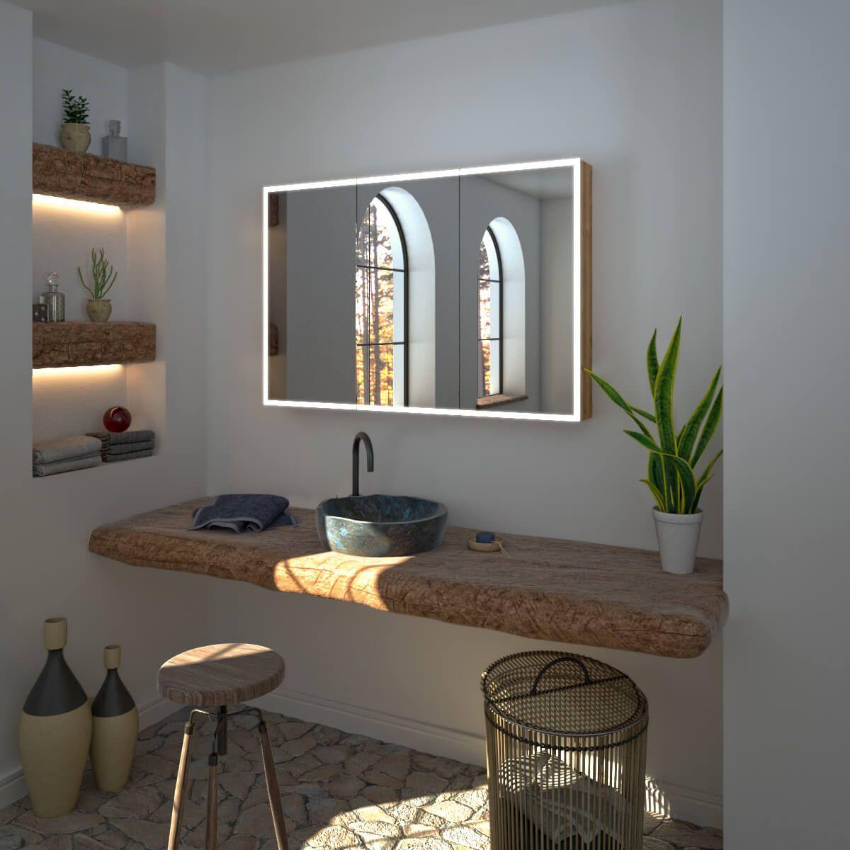 Spiegelschrank nach Maß mit LED Credo Spiegelschrank bad