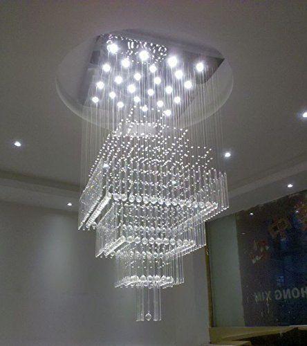 Ceiling Lights Living Room Bedroom Led Crystal Chandelier Modern