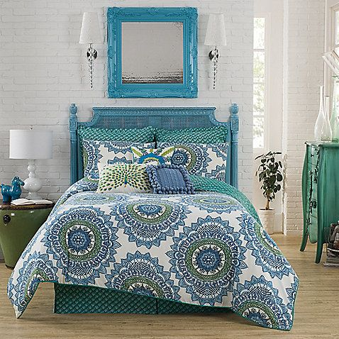Create A Boho Chic Vibe In Your Bedroom With The Anthology Bungalow  Reversible Comforter Set In Teal. The Collection Takes Bohemian Flair And  Gives It A ... Gallery