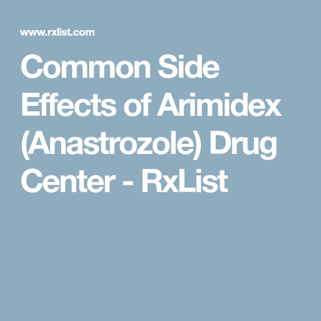 Arimidex side effects breast cancer