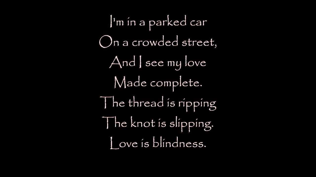 Love Is Blindness Jack White Lyrics The Great Gatsby Ost Deep
