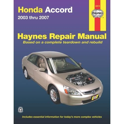 Honda Accord 2003 2007 Haynes Repair Manual Divhaynes Offers The Best Coverage For Cars Trucks Vans Suvs Repair Manuals Automotive Repair Honda Accord