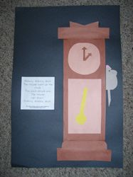 Making Learning Fun-- Hickory Dickory Dock Directional Art project ...