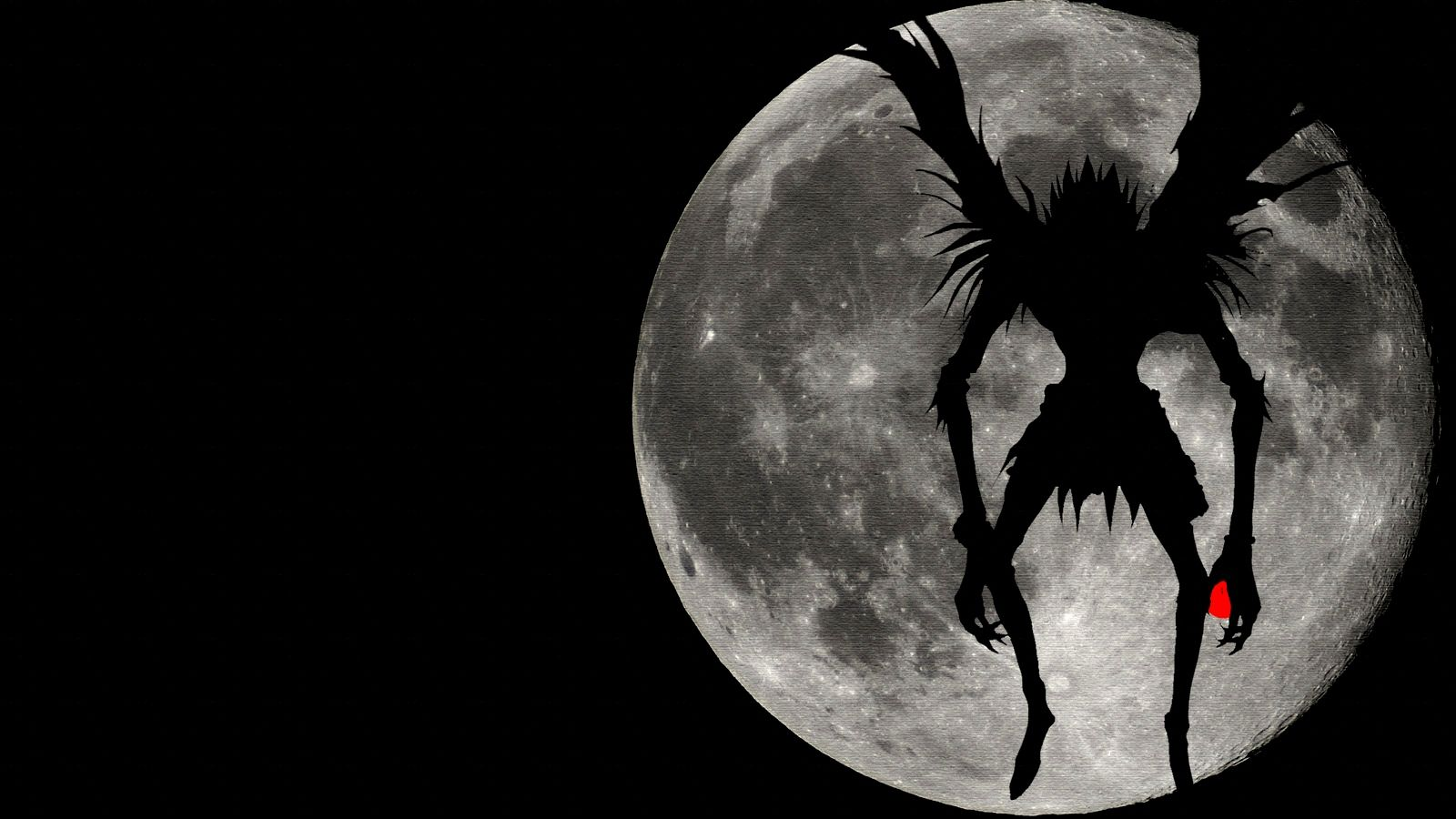 Death Note Shinigami Ryuk Shadow Full Moon Wallpaper