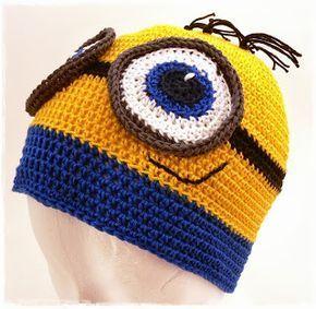 häkelanleitung minion mütze