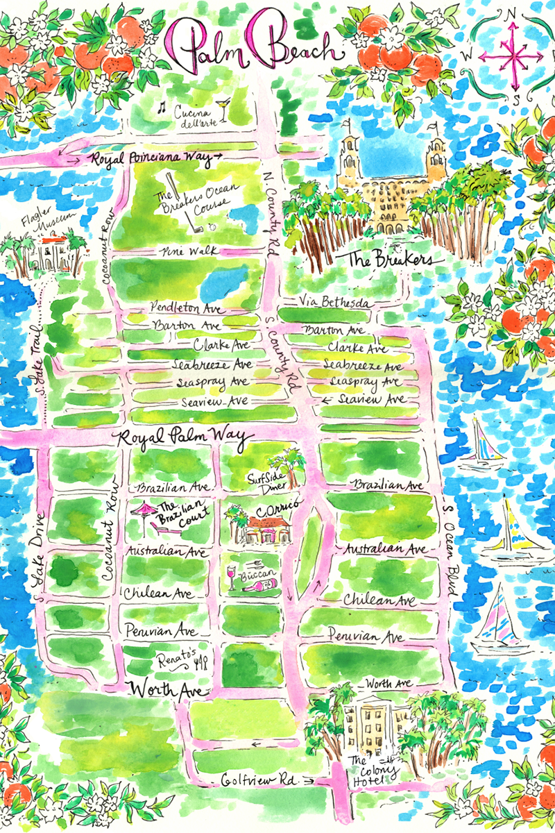The Lilly Pulitzer Guide to Palm Beach | Beach travel, Palm beach ...