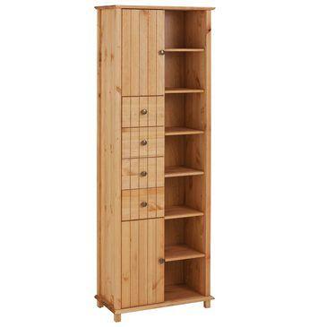 Welltime Hochschrank »Vili«, Breite 60 cm, 2 Türen, 4 Schubkästen - badezimmer hochschrank 60 breit