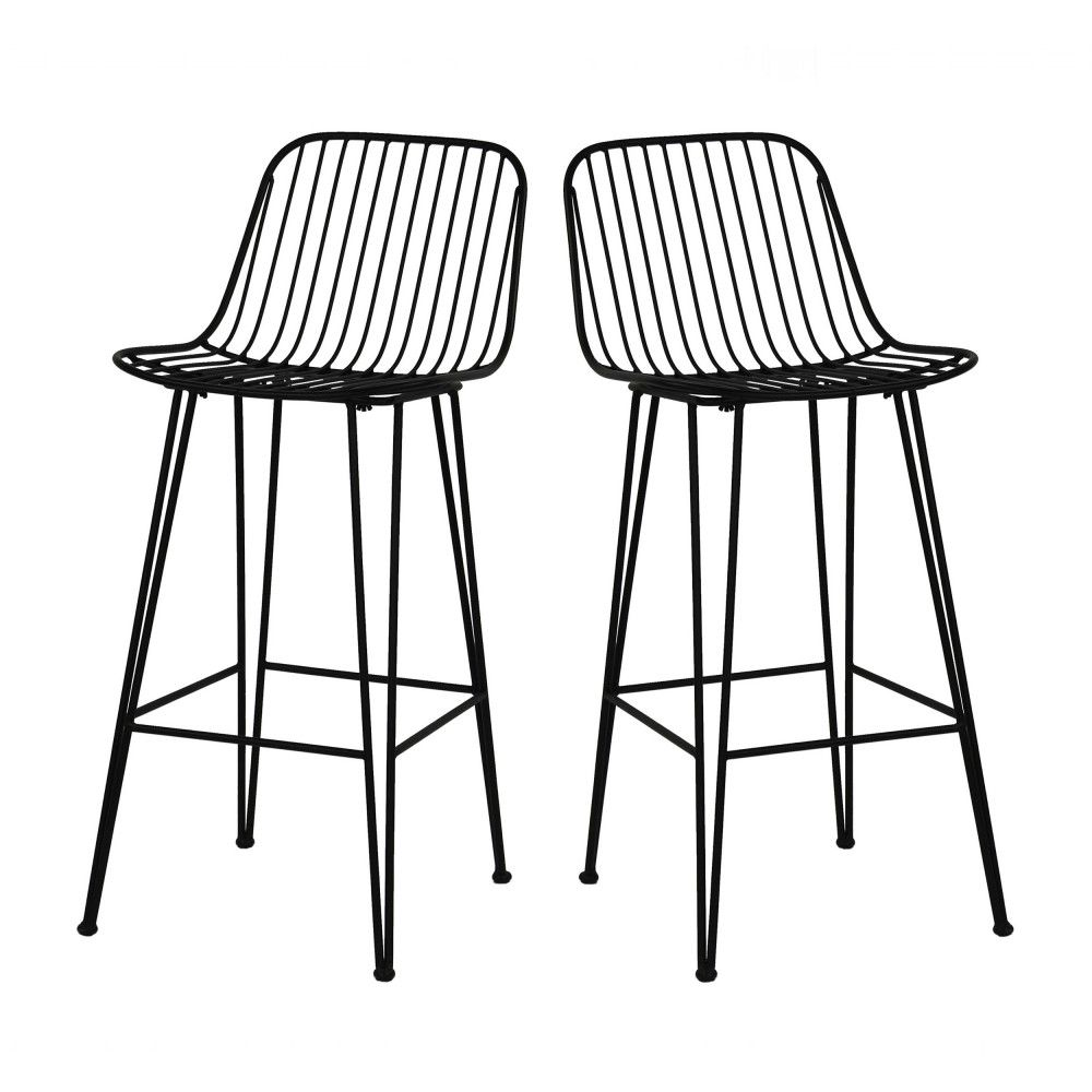2 Chaises De Bar Design En Metal 67cm Pomax Ombra Chaise De Bar Design Tabouret De Bar Chaise Bar