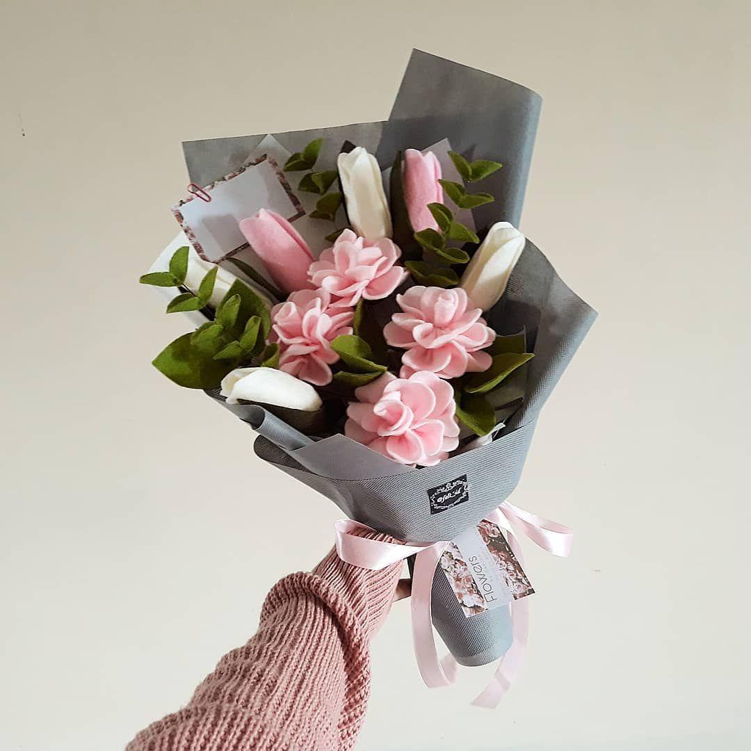 Gambar Mungkin Berisi Bunga Buket Bunga Bunga Kain Flanel