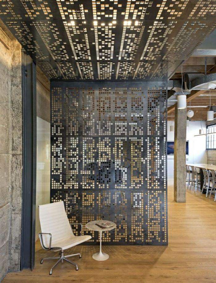quel separateur de piece choisir office interior perforated plate apartment interior