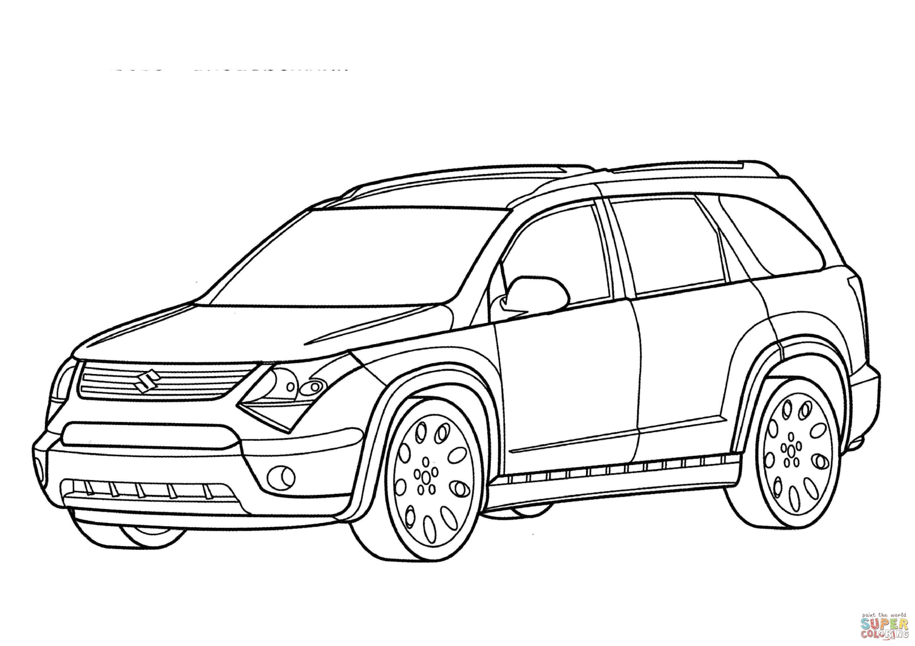 Suzuki Sx Force Coloring Pages Collection Cars Coloring Pages Coloring Pages Car Drawings