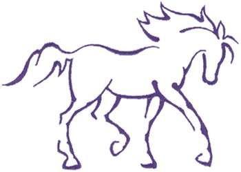Horse Outline Printable Enfield Cresting Horse Outline Animal