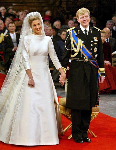 maxima de holanda vestida de valentino. | maxima de holanda reina