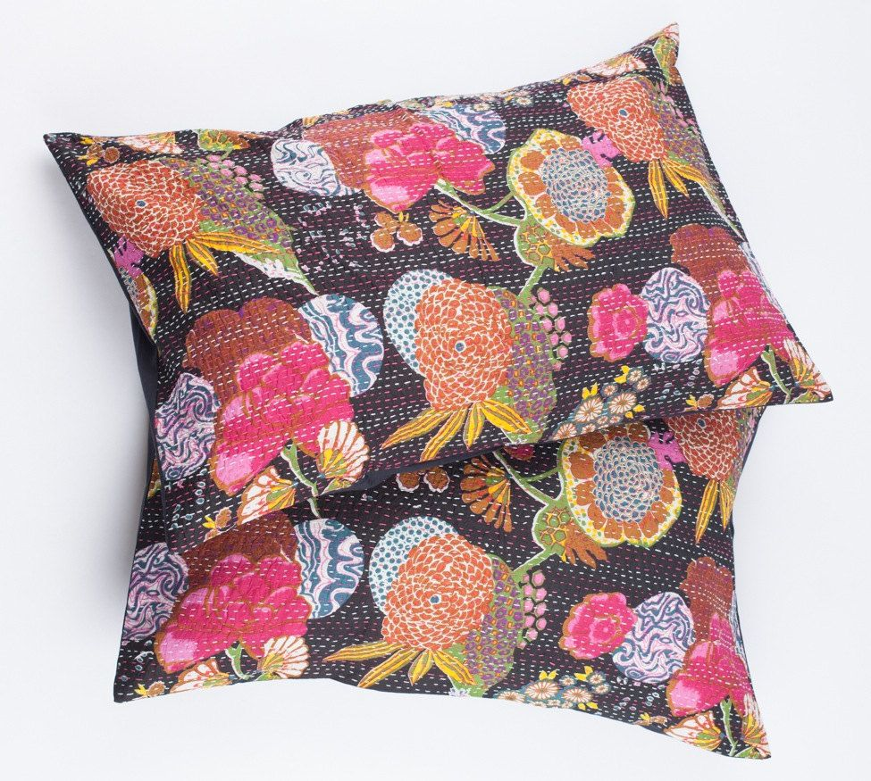 20x30+Sham+Pillow+Cover++Black+Floral+by+gypsya+on+Etsy,+$32.00
