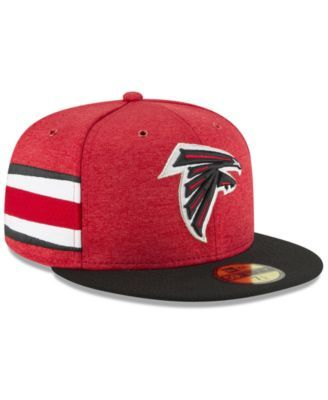 the latest be430 95cd4 New Era Atlanta Falcons On Field Sideline Home 59FIFTY Fitted Cap - Red  Black 7 3 8
