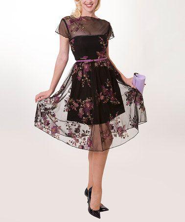 Black & Pink Serenity Dress - Women & Plus by Tatyana #zulily #zulilyfinds