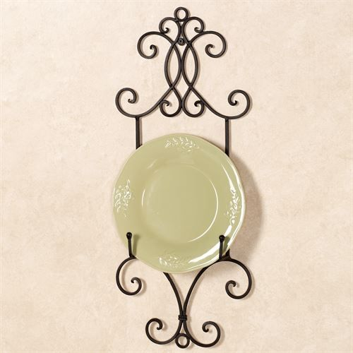 Metal Scroll Wall Mount Single Plate Rack | Plate racks, Wall mount ...