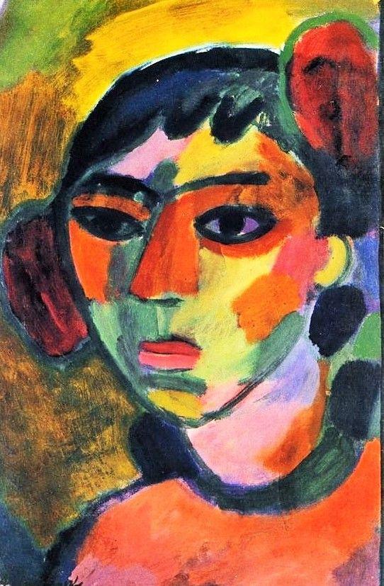 Art Alexei Jawlensky Torjok Russie I864 Wiesbaden I94i Peinture Portrait Couleur Fauve Art Moderne Expr Portrait Painting Expressionist Portrait Art