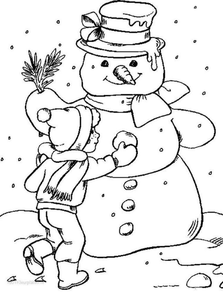 Snowman Winter Coloring Page Coloring Pages Winter Snowman Coloring Pages Coloring Pages