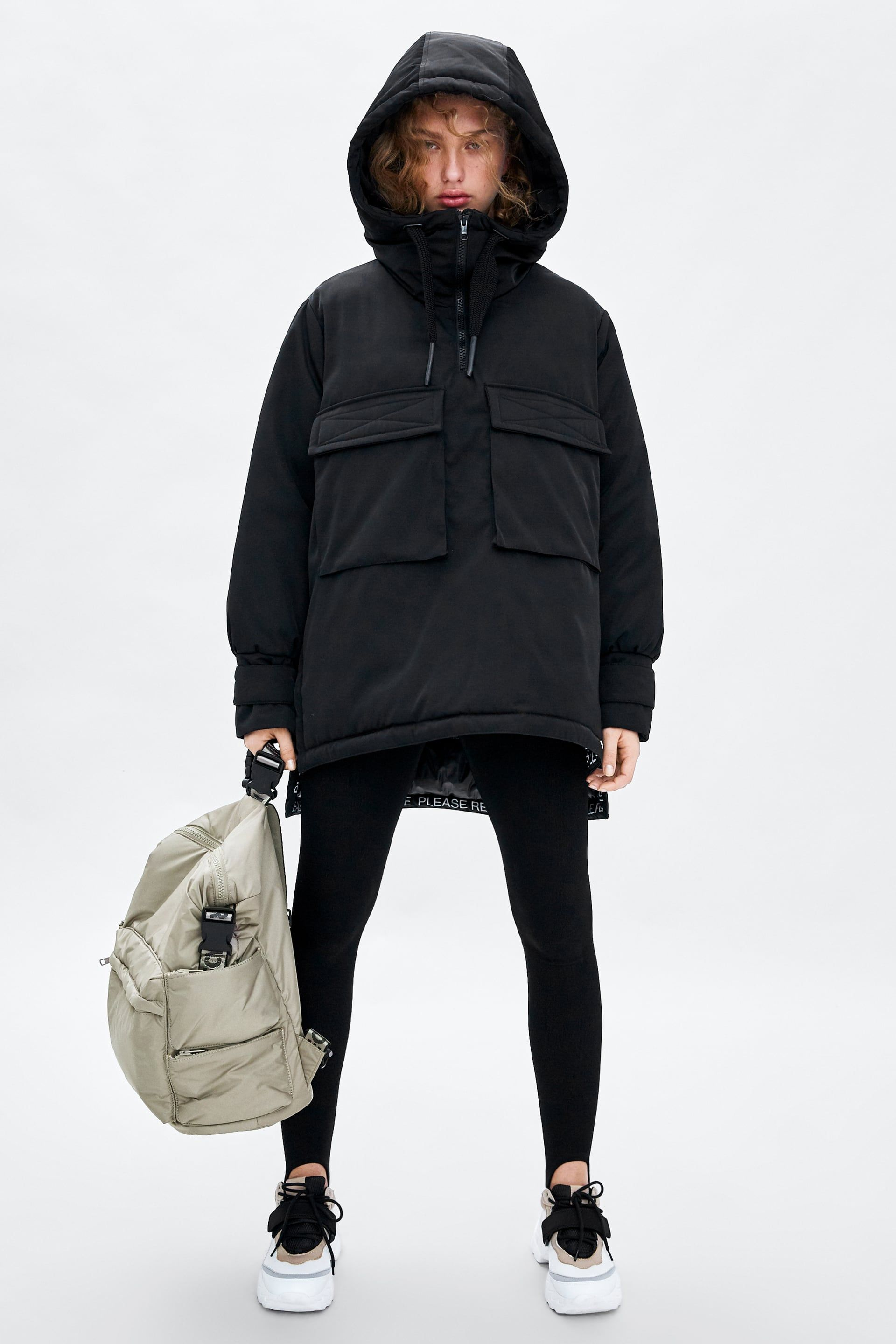 9a5f58a7d1 Recycled capsule padded parka anorak in 2019 | clothing | Zara parka ...