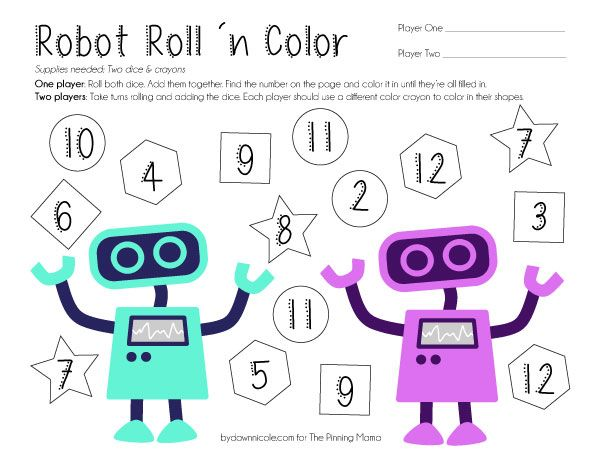 Roll And Color Shapes Shape Games Gaming Hexagon Worksheet