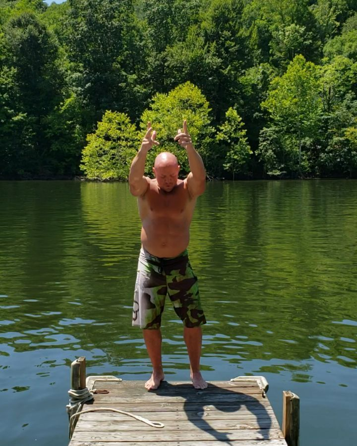 It's all about the setup and the approach to the flip! #lakelife #lake #boom #fitlife...