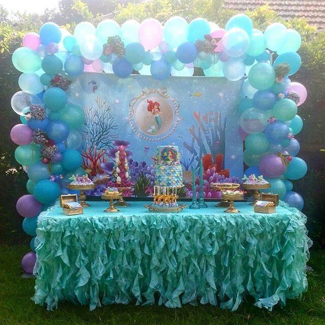 Repost At Partysplendour Linda Decoración De La Sirenita