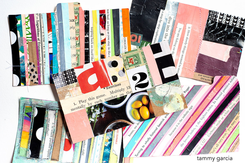Collage with a typographical twist in 2020 Journals