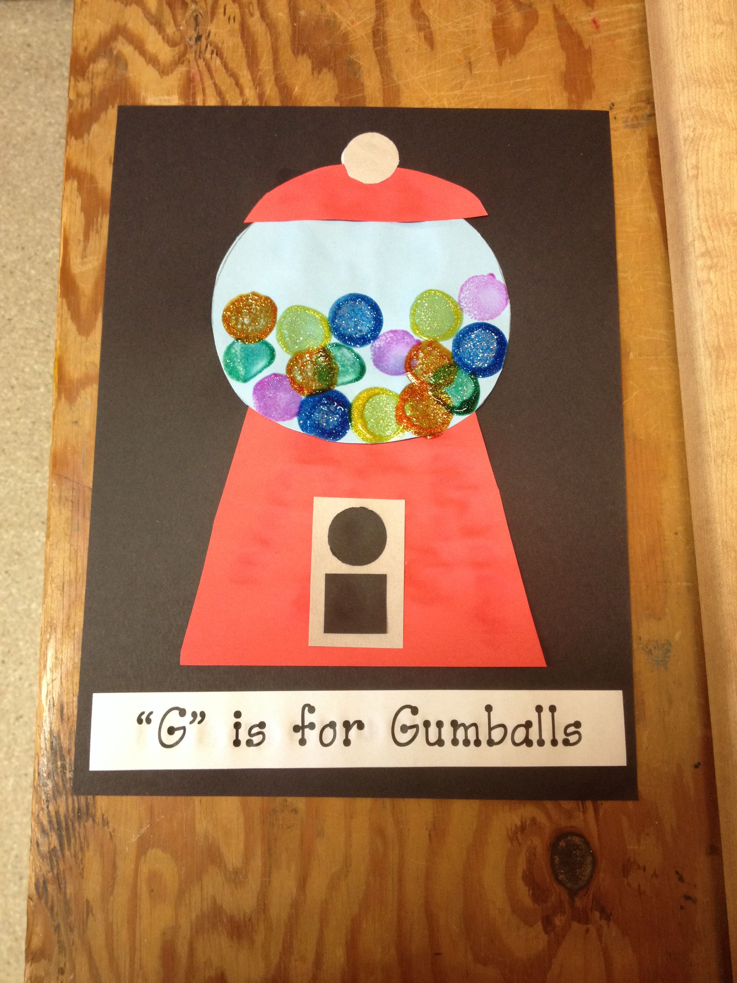 G Is For Gumboils Preschool Craft