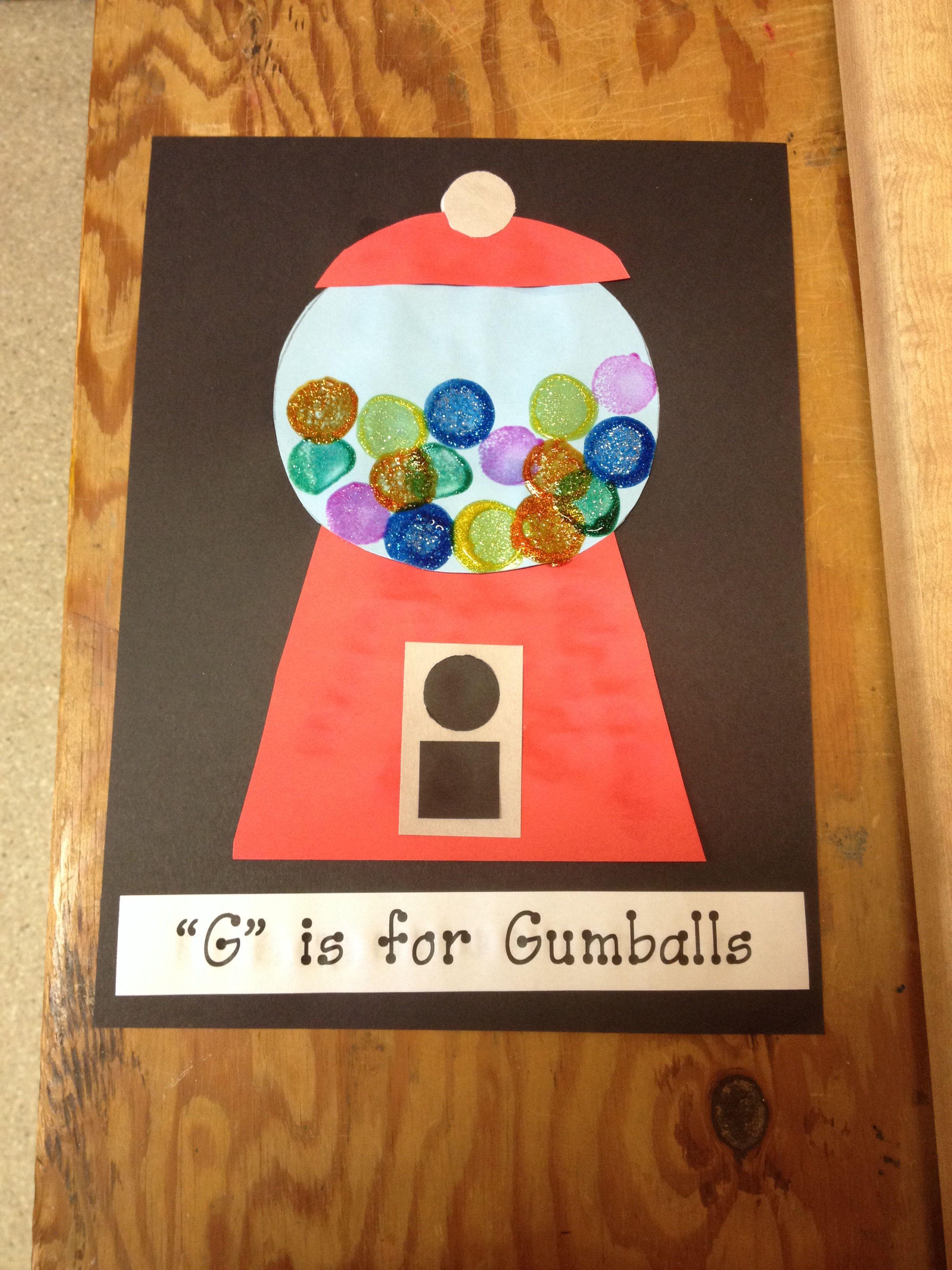 G Is For Gumboils Preschool Craft