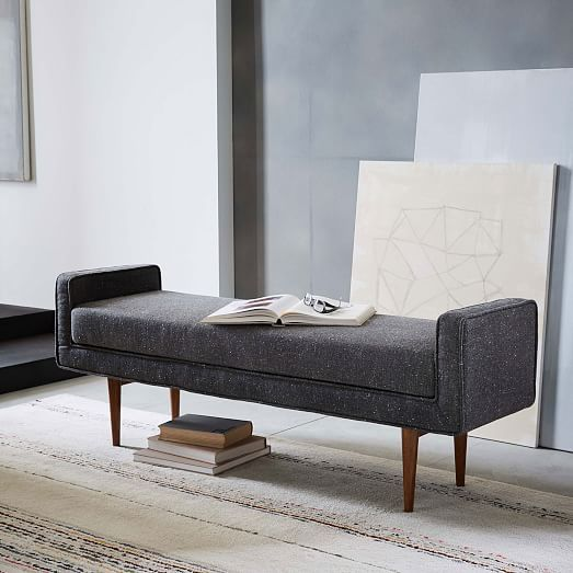 Landry Bench Furniture layout, Tv walls and Daybed