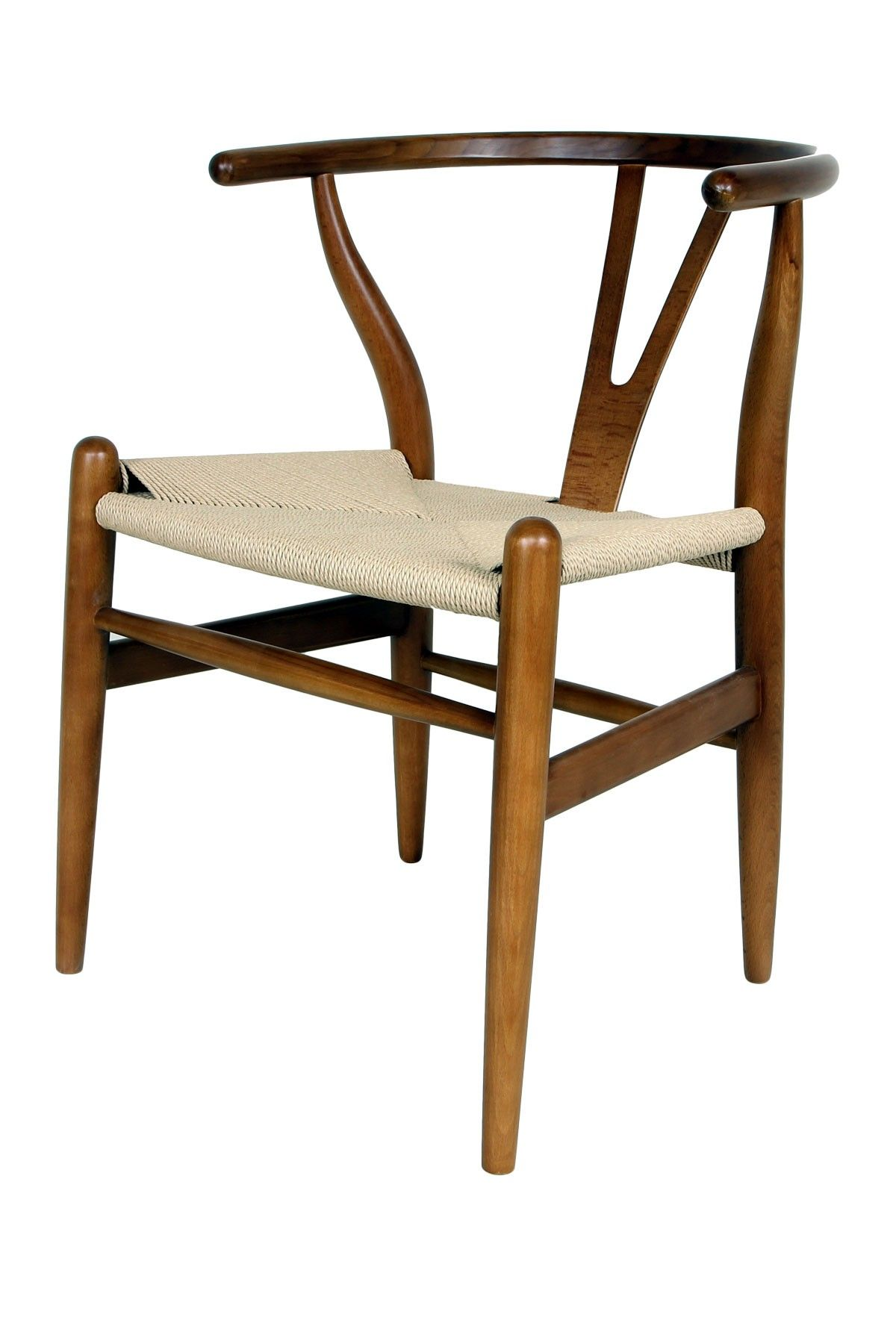 Control Brand The Wishbone Brown/Yellow Chair