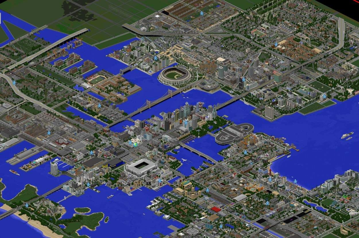 Greenfield Map Dynmap Big City Download Minecraft Building Ideas Minecraft City Minecraft Plans Minecraft City Buildings