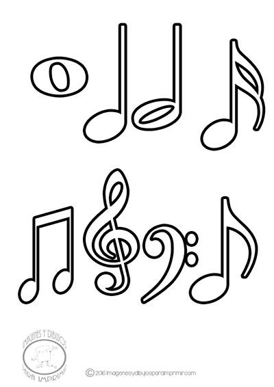 Imagenes De Dibujos De Las Notas Musicales Para Imprimir Y Colorear