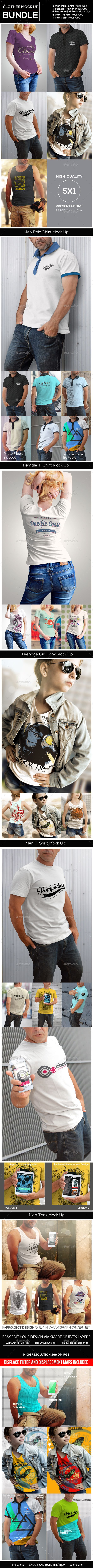 Clothes Mock Up Bundle Photoshop Psd Tank Woman Available Here