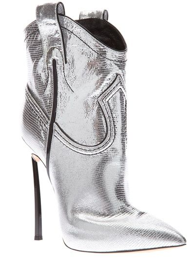 pointed ankle boots - Metallic Casadei 0JAE5