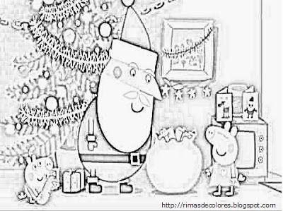 Dibujos De Navidad De Peppa Pig Para Colorear Peppa Pig Para