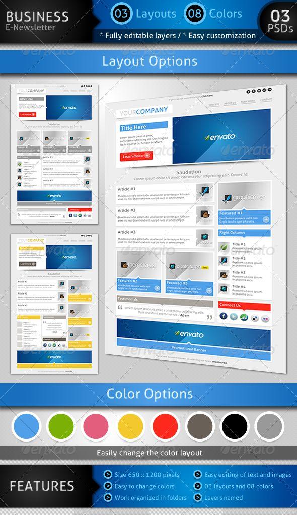 sensation e newsletter template e newsletters web elements