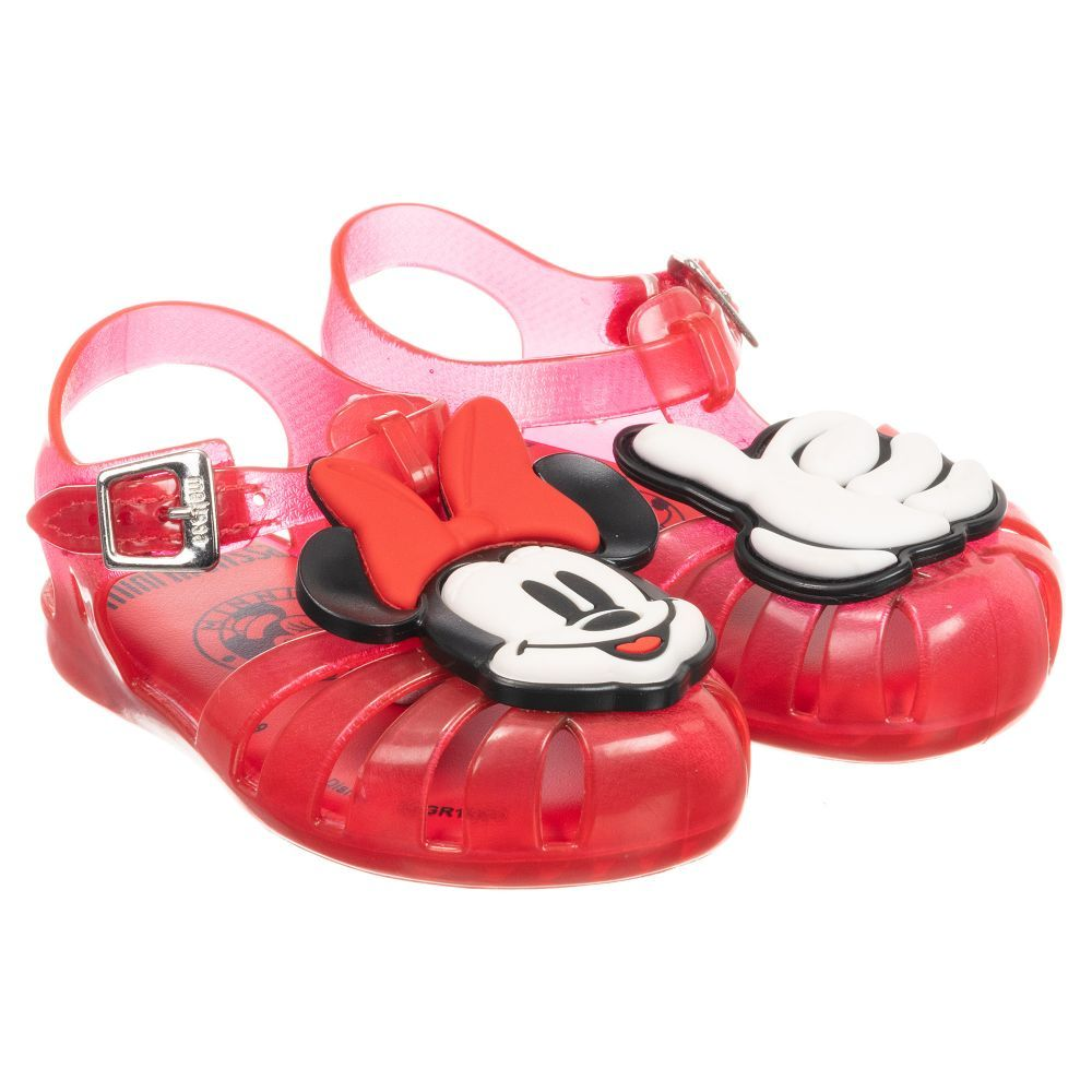 fa16c9efe4d7 Red jelly shoes for younger girls by Mini Melissa