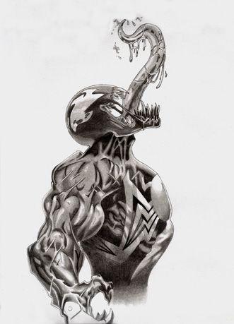 Spiderman Vs Venom Drawing at PaintingValleycom  Explore